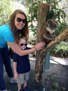 We loved Brownie the Koala, but I'm not sure she loved us...