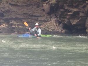 Dan in the kayak.