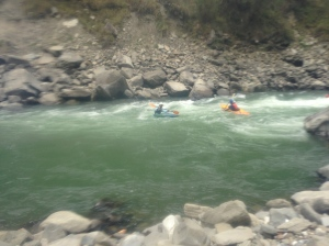 The kayakers were fearless.