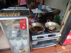 Street food-spring rolls and bun cha