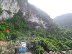 This is the outside view of the cave.