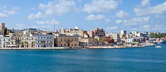 Brindisi, panoramic view from the sea - Puglia - Italy